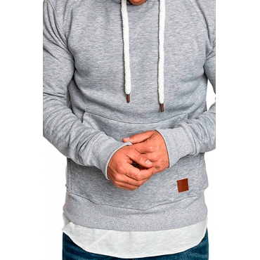 Lovely Casual Basic Light Grey Hoodie