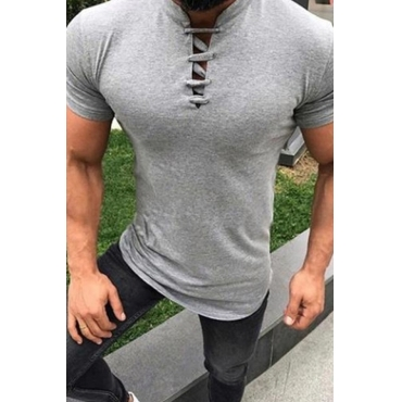 Lovely Casual Light Grey T-shirt