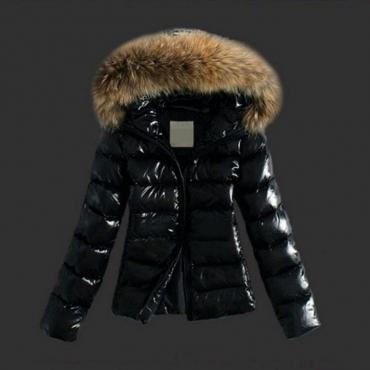 Lovely Casual Winter Short Black Coat