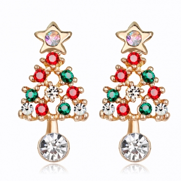 Lovely Christmas Day Gold Alloy Earring