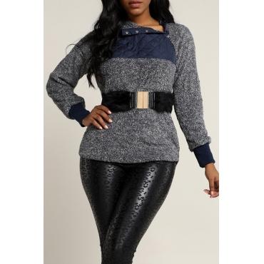 Lovely Casual Patchwork Black Sweatshirt Hoodie(Wi