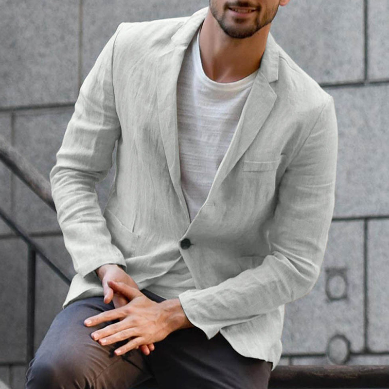 Lovely Casual Turndown Collar Grey Formal Wear