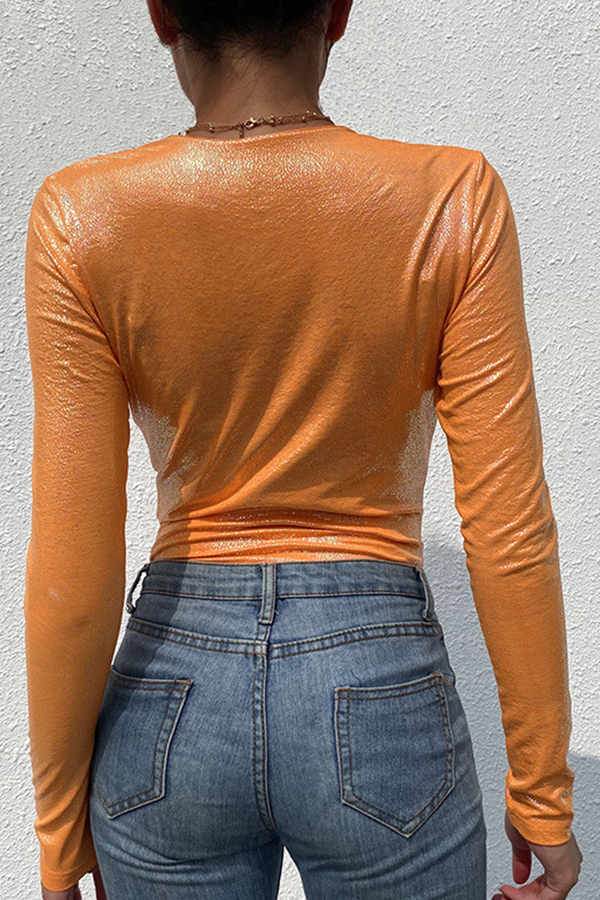 Lovely Casual Skinny Croci Bodysuit
