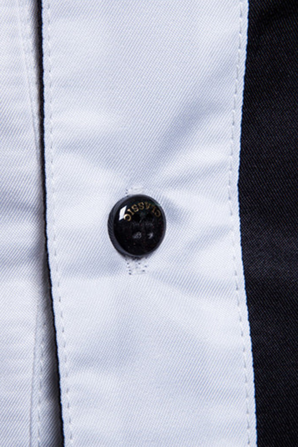 Lovely Casual Patchwork White Shirt