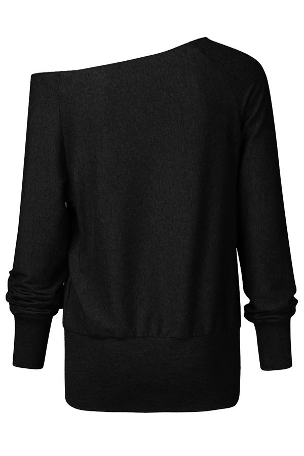 Lovely Casual Basic Black Sweatshirt Hoodie