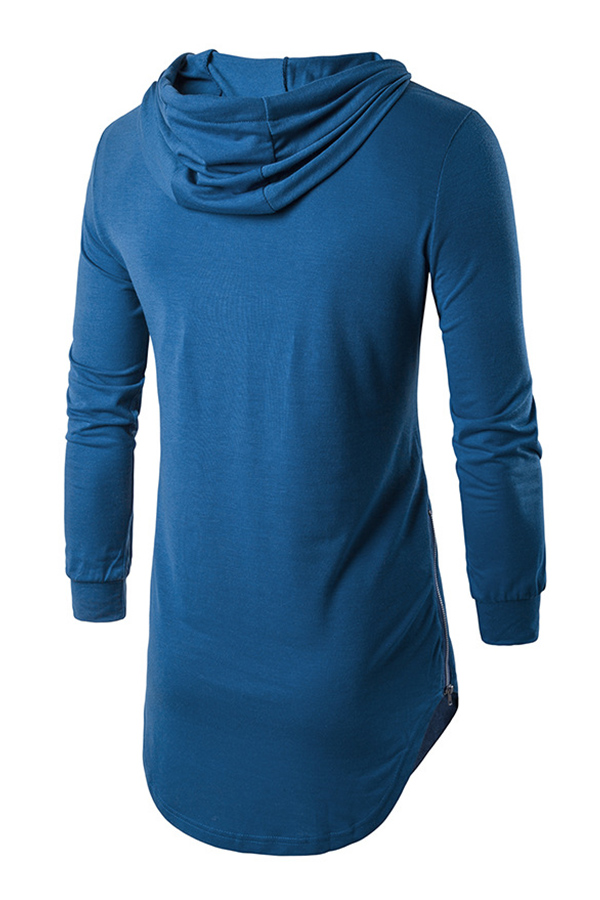 Lovely Casual Hooded Collar Blue Hoodie