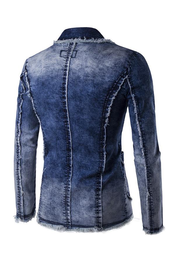 Lovely Casual Gradual Change Deep Blue Formal Wear