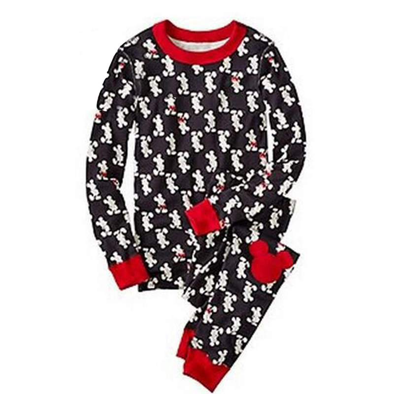 Lovely Family Printed Black Kids Two-piece Pants Set