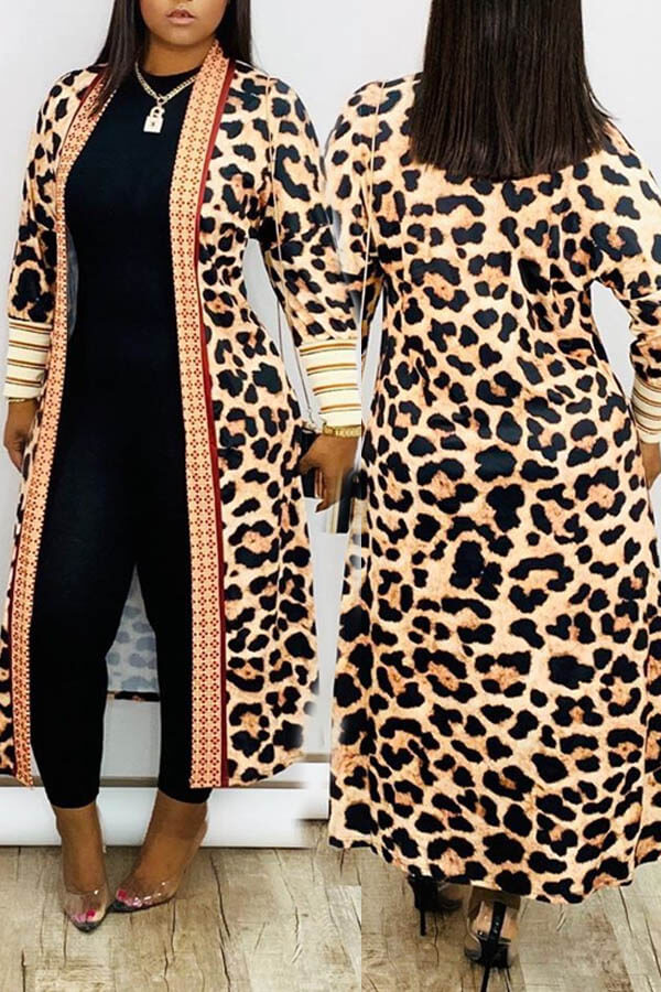 Lovely Casual Leopard Printed Cardigan