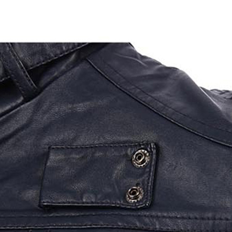Lovely Casual Zipper Design Navy Blue Leather