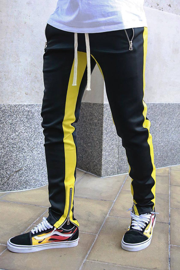 Lovely Street Patchwork Yellow Pants
