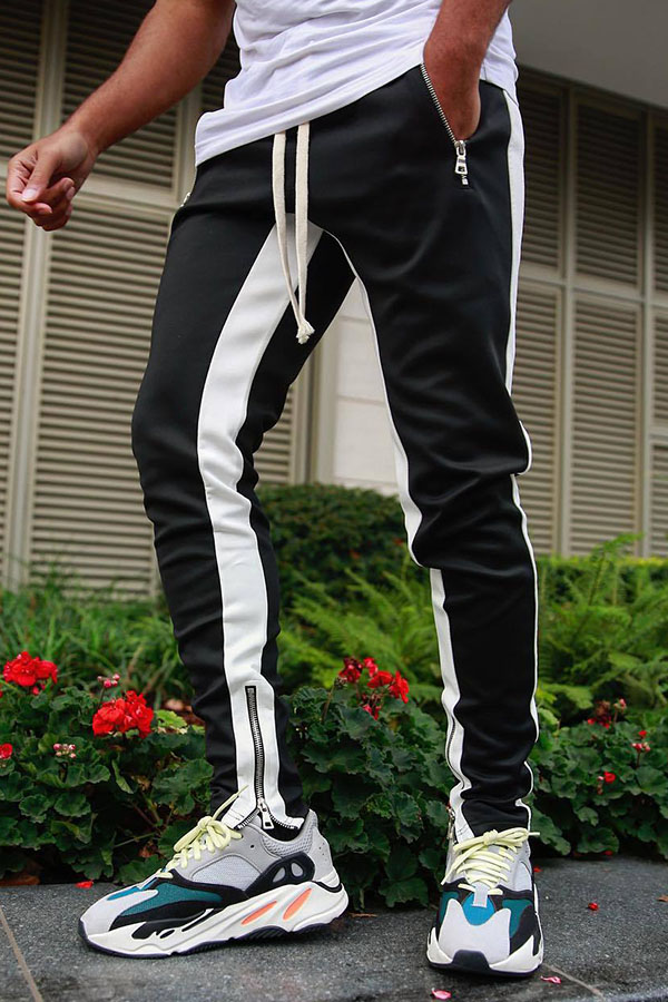Lovely Street Patchwork Black Pants