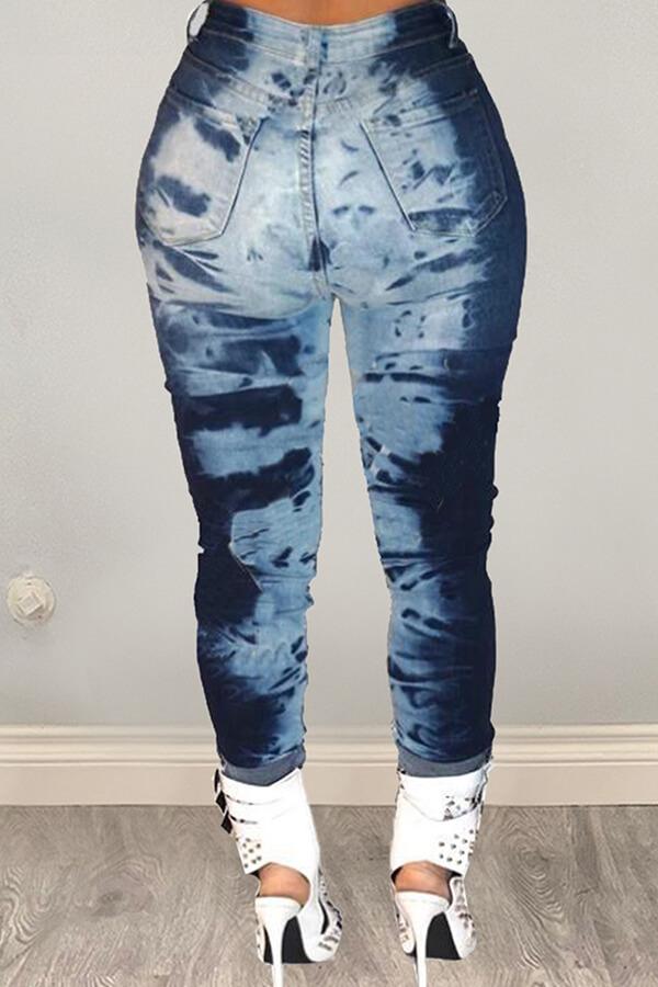 LW BASICS Trendy Printed Green Pants