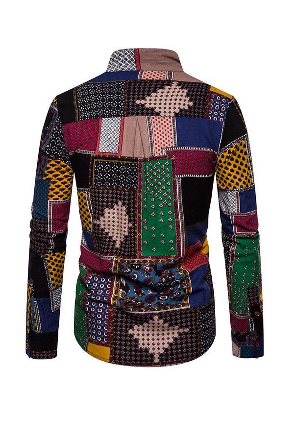 Lovely Bohemian Print Multicolor Shirt
