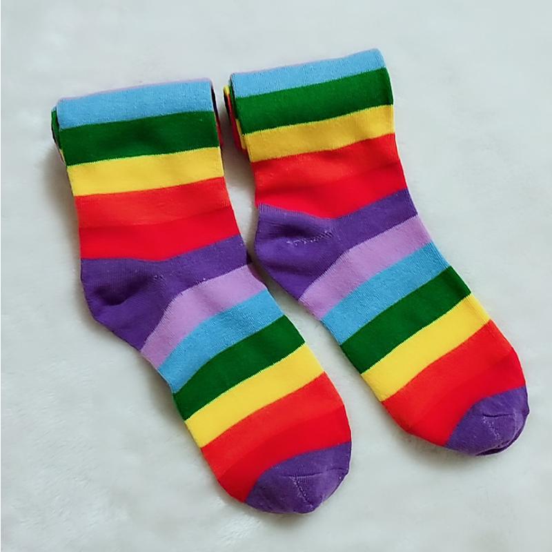 Lovely Leisure Striped Multicolor Socks