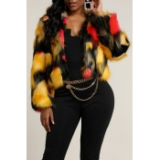 Lovely Street Patchwork Multicolor Coat