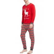 Lovely Family Christmas Deer Red Father Two-piece