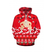 Lovely Christmas Day Printed Multicolor Hoodie