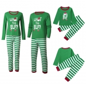 Lovely Family Striped Green Father Two-piece Pants