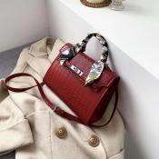 Lovely Casual Red Messenger Bag