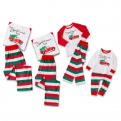 Lovely Family Striped White Kids Two-piece Pants S