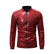 Lovely Casual Zipper Design Red Jacket