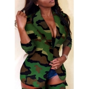 Lovely Sexy Camouflage Printed  Two-piece Pants Set