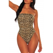 Lovely Sexy Leopard Printed Teddies