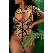 Lovely Printed Multicolor One-piece Swimwear(With