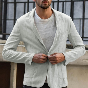 Lovely Casual Turndown Collar Grey Formal Wear