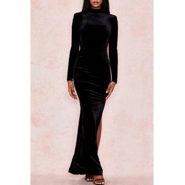 Lovely Party Backless Black Floor Length Prom Dress