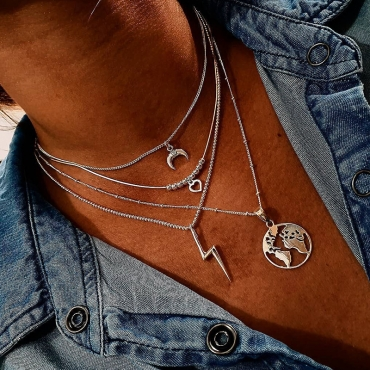 Lovely Trendy Make Old Silver Necklace