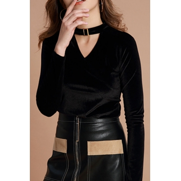 Lovely Casual Hollowed-out Black Base Layers