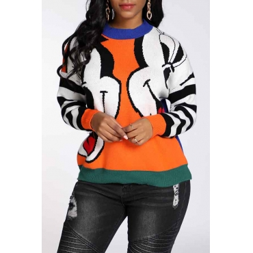 Lovely Leisure Patchwork Multicolor Sweater