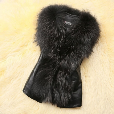 Lovely Casual V Neck Patchwork Black Vests