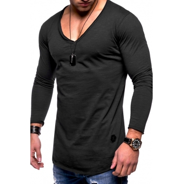 Lovely Casual V Neck Skinny T-shirt