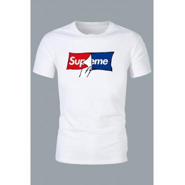Lovely Casual Letter White T-shirt