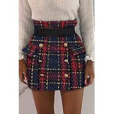 Lovely Sweet Plaid Multicolor Mini Skirt