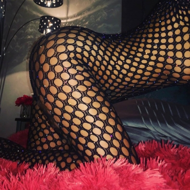 Lovely Sexy Fishnet Black Bodystocking