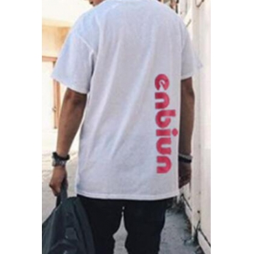 Lovely Casual Letter White T-shirt
