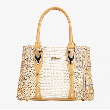 Lovely Trendy Patchwork Gold Crossbody Bag