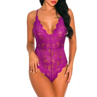 Lovely Lace Sexy Solid  Skinny  Teddies