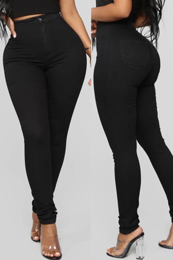 Lovely Trendy Skinny Black Pants
