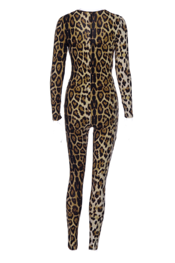 Lovely Sexy Leopard One-piece Jumpsuit
