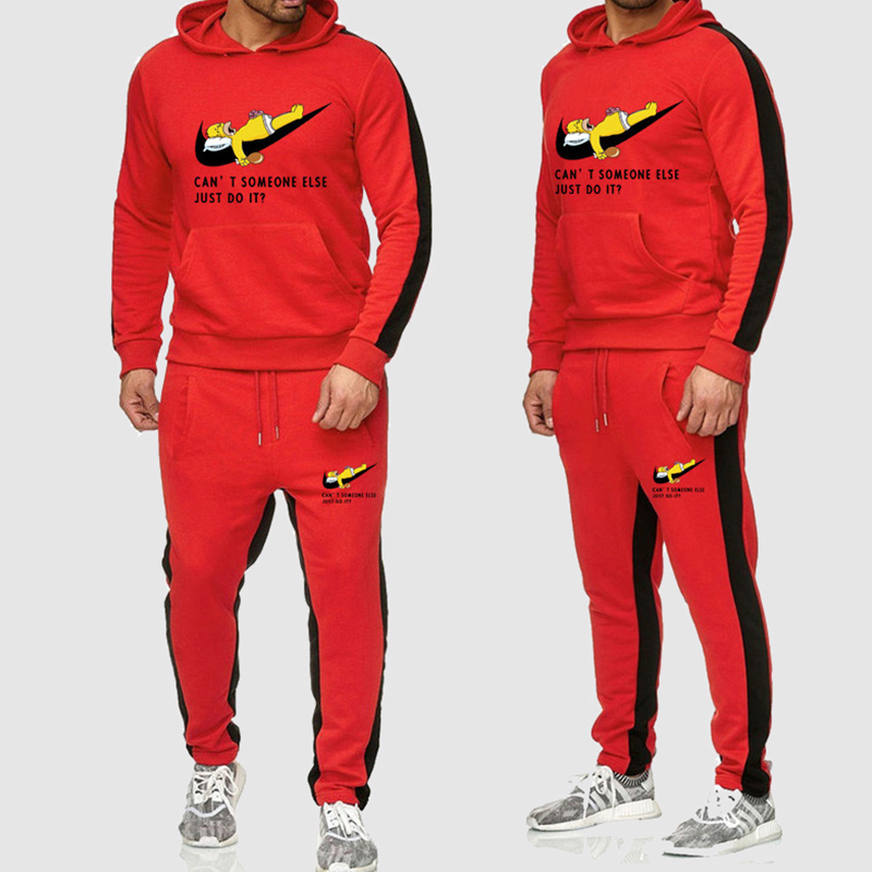 Lovely Casual Hooded Collar Red Two-piece Pants Set