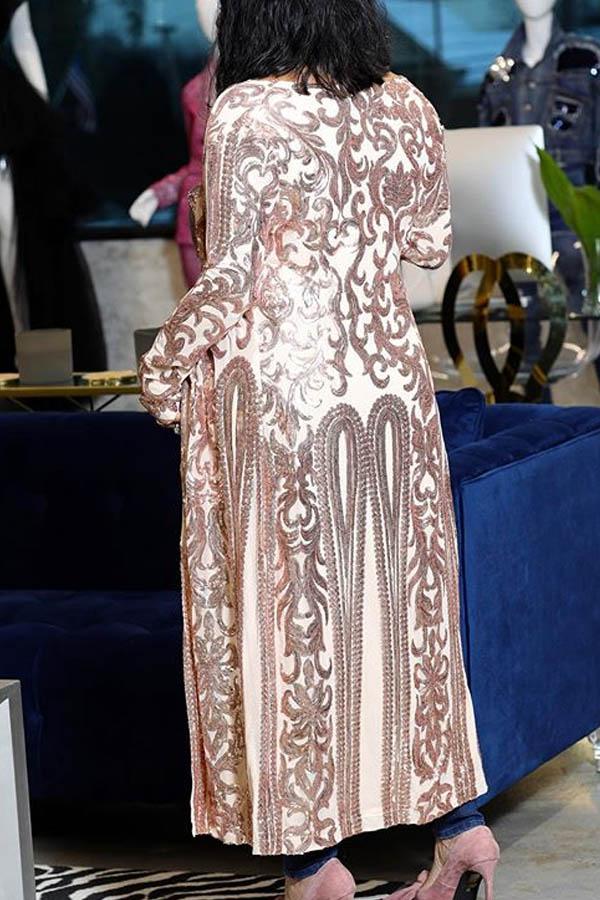 Lovely Casual Basic Light Pink Long Coat