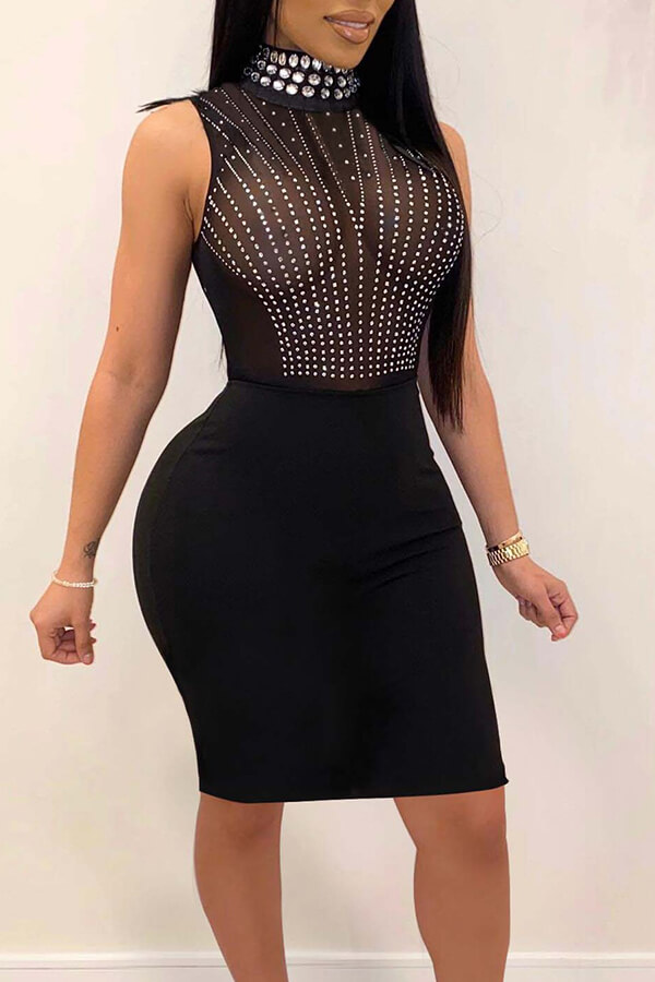 Lovely Party See-through Black Knee Length Dress фото
