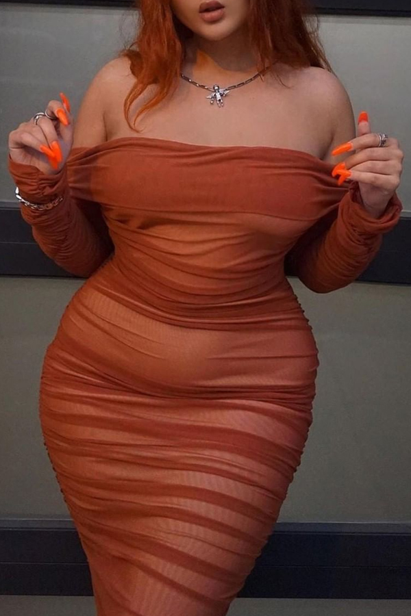 Lovely Leisure Ruffle Design Croci Plus Size Mini Dress