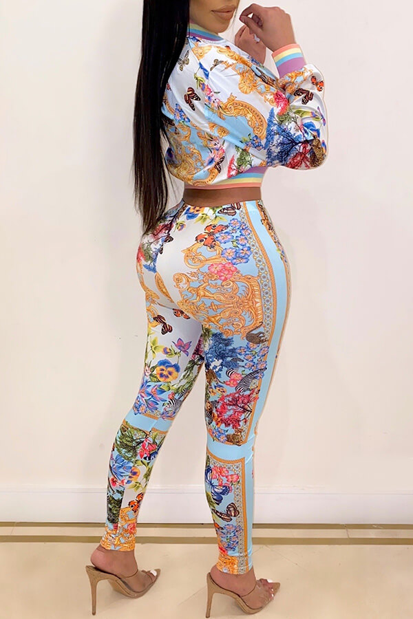 Lovely Party Zipper Design Multicolor Two-piece Pa