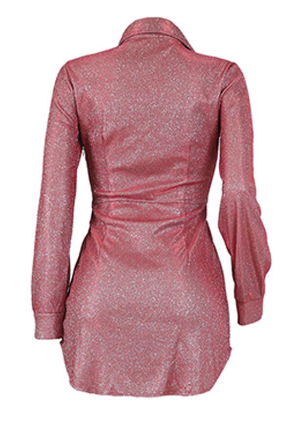 LW SXY Chic Sequin Pink Mini Dress